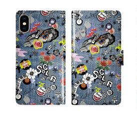 iPhone 11 iPhone 11 Pro iPhone 11 Pro Max スカラー 手帳型 スマホケース iphone XR iPhone XS Max iPhone XS iPhone8 iPhone7 iPhone6S iPod touch 7 全機種対応 手帳 scolar デニム チェリー チョウ フラワー ダイアリー