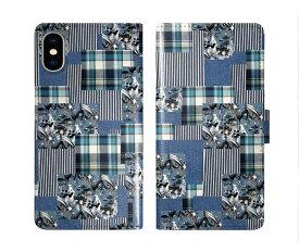 iPhone XR iPhone XS iPhone8 ケース スカラー 手帳型 SO-02L SO-01L SO-05K SH-04L SH-01L SH-03K SH-01K SC-04L SC-03L SC-02L F-02L F-04K ScoLar 手帳型ケース 全機種対応 チェック 切り取り柄 コラージュ ダイアリー
