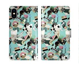 iPhone XR iPhone XS iPhone8 ケース スカラー 手帳型 SO-02L SO-01L SO-05K SH-04L SH-01L SH-03K SH-01K SC-04L SC-03L SC-02L F-02L F-04K ScoLar 手帳型ケース 全機種対応 チェリー リンゴ スター 総柄 かわいい