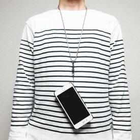 iPhone11 ネックストラップ イタリアンレザー パープル 紫 本革 レザー スマートフォン 手帳型ケース デジタルカメラ デジカメ ネームホルダー IDカードホルダー ストラップ 落下防止 ロングストラップ 軽量仕上げ まとめ買い 団体