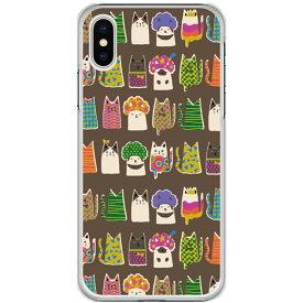 スカラー スマホケース Xperia5 SO-01M SOV41 Xperia8 SOV42 iPhone11 Pro Max 11 Pro 11 XR XS 8 7 6S SH-02M SH-01M SC-01M SHV47 SHV46 SHV45 ハードケース 全機種対応 スカラー スマホカバー おしゃれ 猫柄 アフロ猫たち ブラウン かわいい