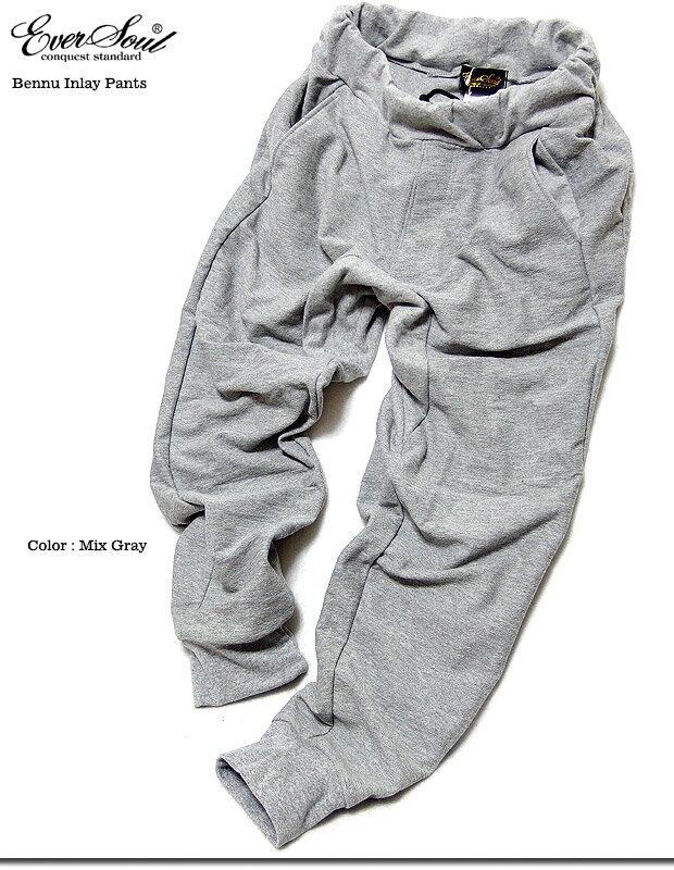 ★インレイスウェット生地で柔らかく穿き易い!★シンプルなデザインで使い易い七分丈スウェットパンツ!★メンズ★