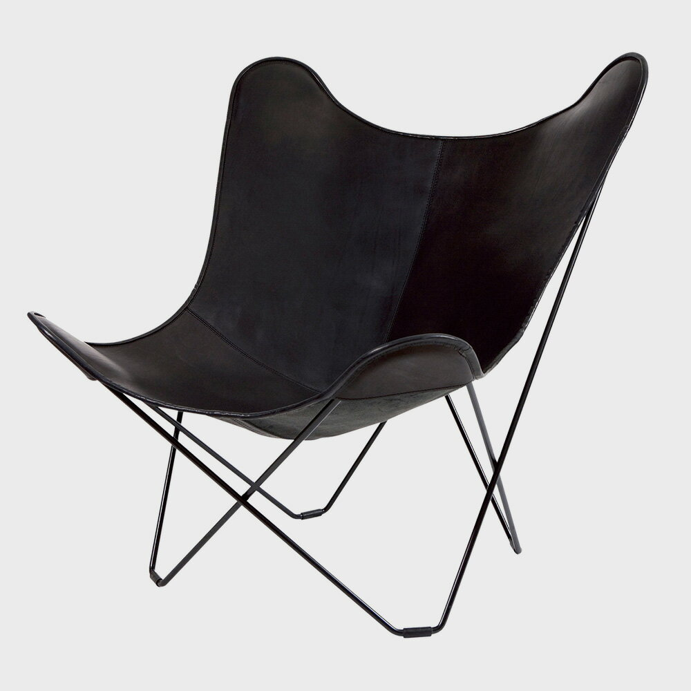 【¥100クーポン】北欧スウェーデン/BKF Chair BKFチェア/ブラックレザー