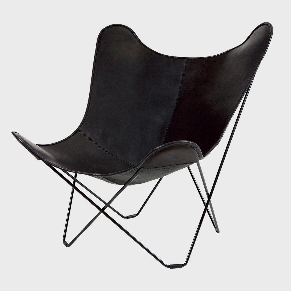 【WエントリーでP+12倍】北欧スウェーデン/BKF Chair BKFチェア/ブラックレザー