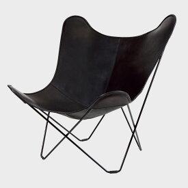 北欧スウェーデン/BKF Chair BKFチェア/ブラックレザー