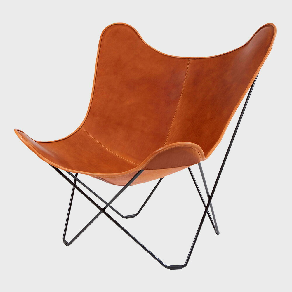 【WエントリーでP+12倍】北欧スウェーデン/BKF Chair BKFチェア/ブラウンレザー