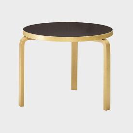 北欧 artek/アルテック/アアルト/丸テーブル 90D ブラック [丸テーブルは北欧artek アルテック]