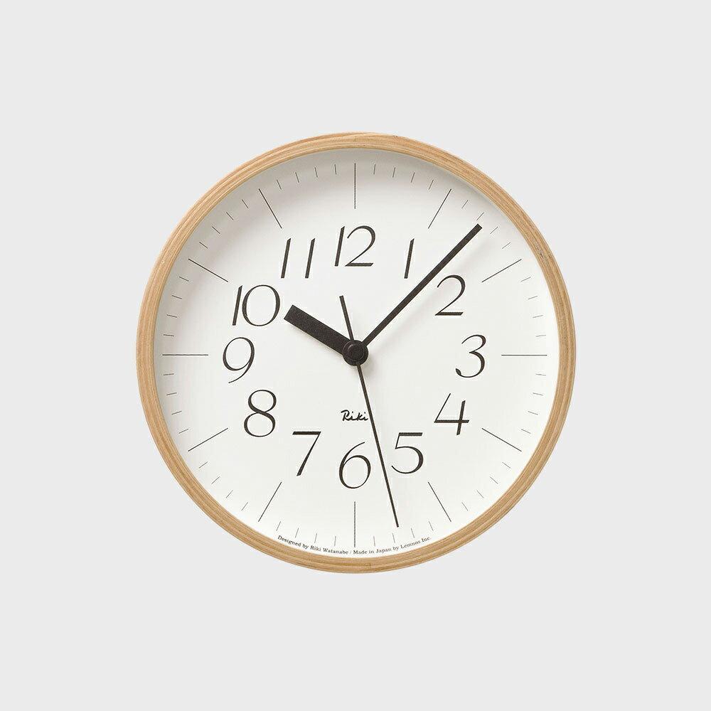 【100円offクーポン】[渡辺力/リキワタナベ]lemnos レムノス/riki clock(リキクロック)掛時計・壁掛け時計 細字S [渡辺力/リキワタナベのリキクロック]