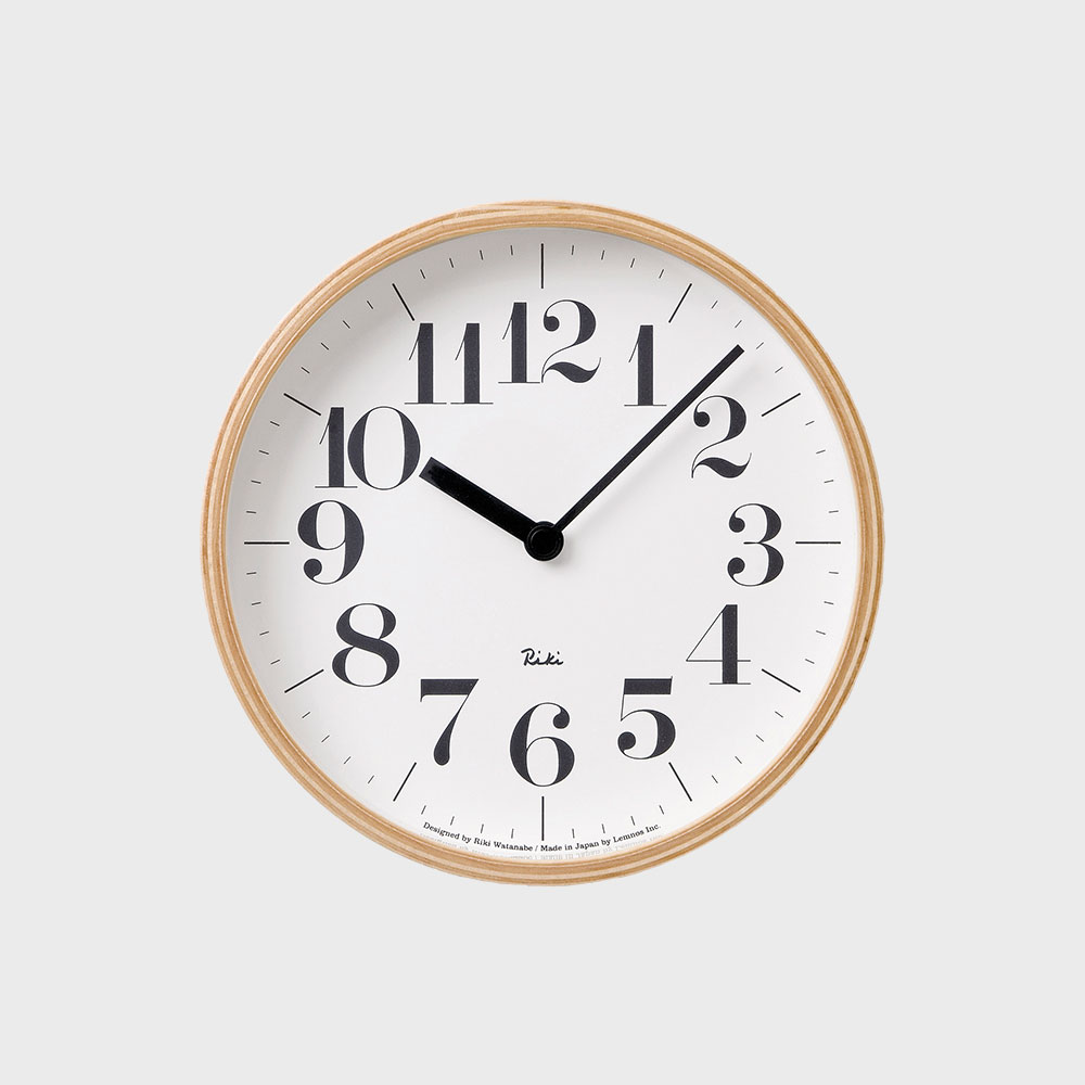 【100円offクーポン】[渡辺力/リキワタナベ]lemnos レムノス/riki clock(リキクロック)掛時計・壁掛け時計 太字S [渡辺力/リキワタナベのリキクロック]