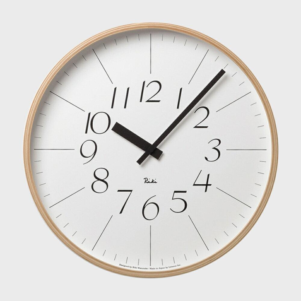 【100円offクーポン】[渡辺力/リキワタナベ]lemnos レムノス/riki clock(リキクロック)掛時計・壁掛け時計 細字L [渡辺力/リキワタナベのリキクロック]