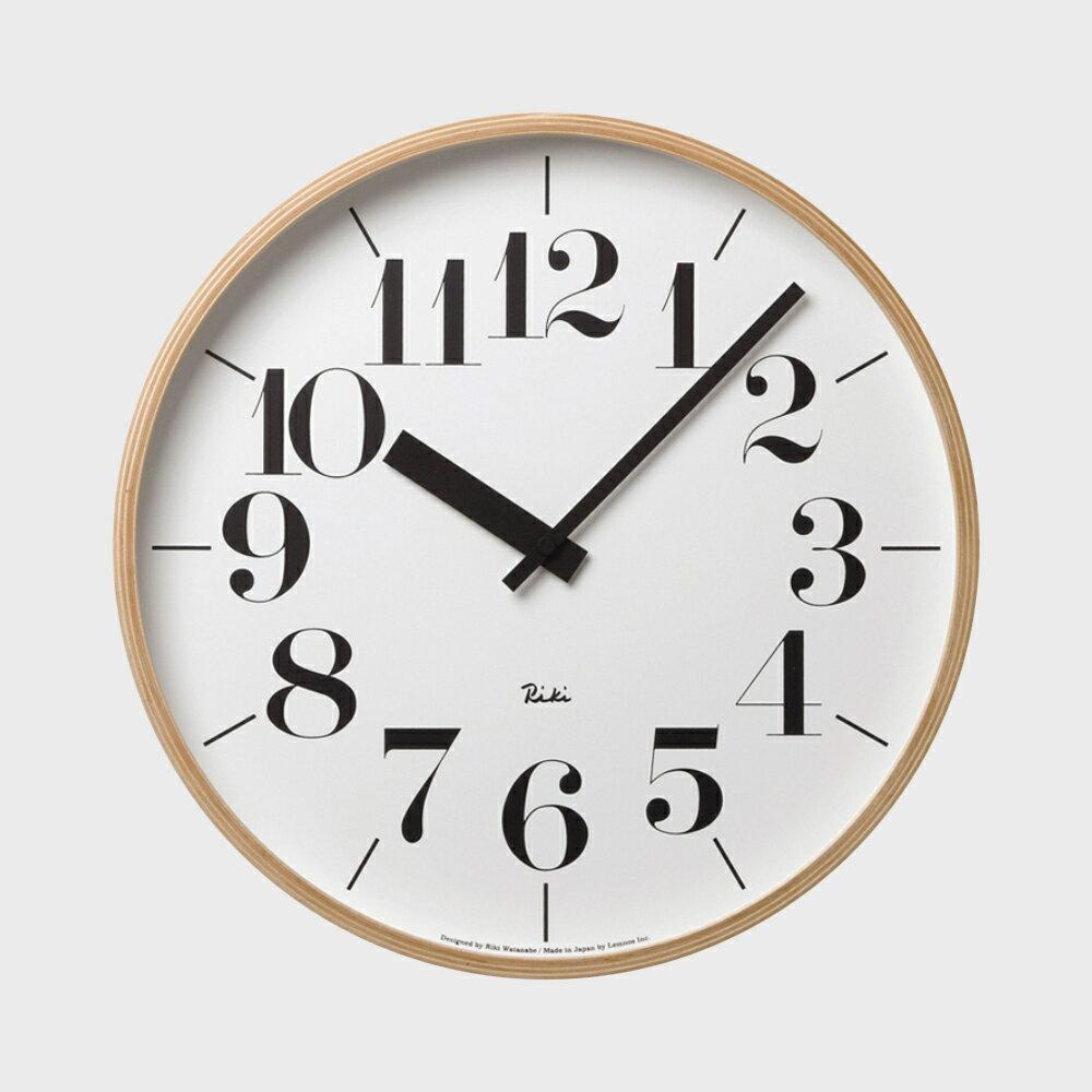 【100円offクーポン】[渡辺力/リキワタナベ]lemnos レムノス/riki clock(リキクロック)掛時計・壁掛け時計 太字L [渡辺力/リキワタナベのリキクロック]