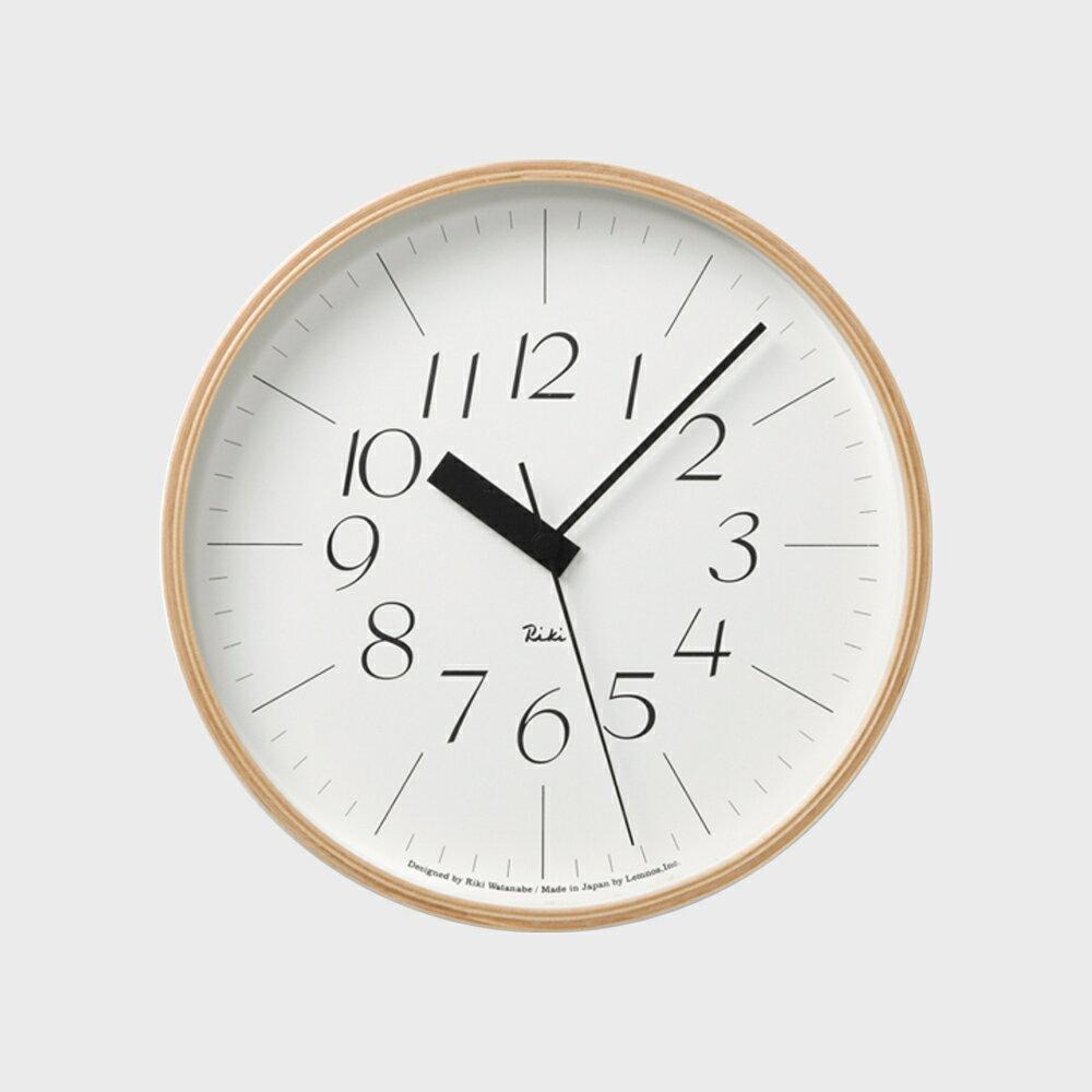 【100円offクーポン】[渡辺力/リキワタナベ]lemnos レムノス/riki clock(リキクロック)電波時計/掛時計 細字M [渡辺力/リキワタナベの壁掛け 電波時計リキクロック]