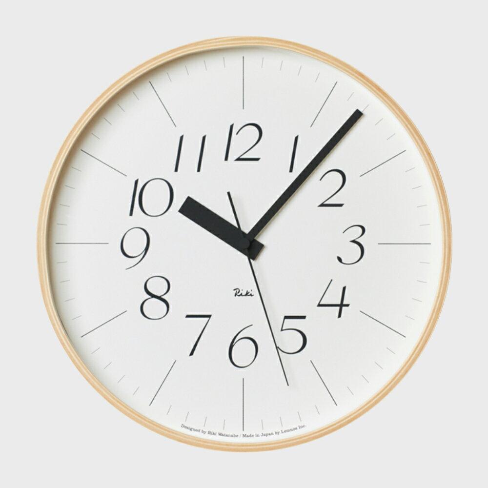 【100円offクーポン】[渡辺力/リキワタナベ]lemnos レムノス/riki clock(リキクロック)電波時計/掛時計 細字L [渡辺力/リキワタナベの壁掛け 電波時計リキクロック]