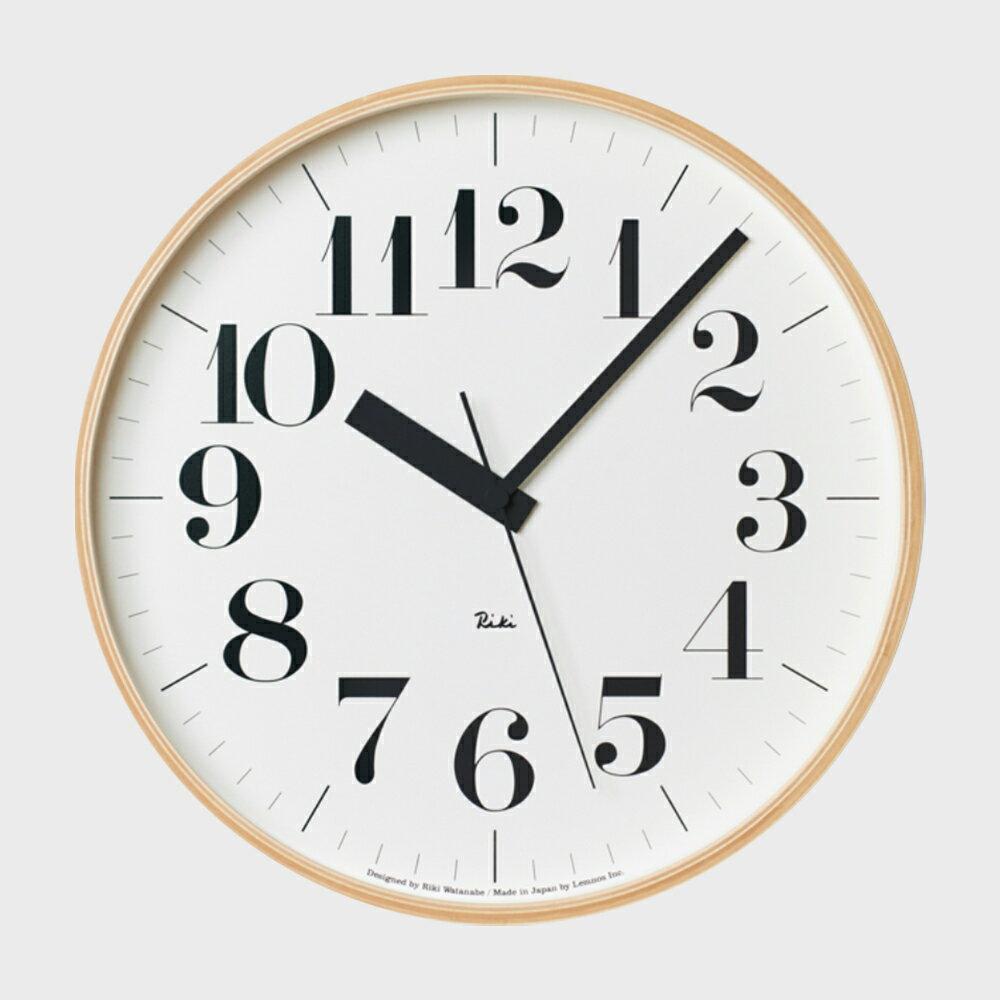 【100円offクーポン】[渡辺力/リキワタナベ]lemnos レムノス/riki clock(リキクロック)電波時計/掛時計 太字L [渡辺力/リキワタナベの壁掛け 電波時計リキクロック]