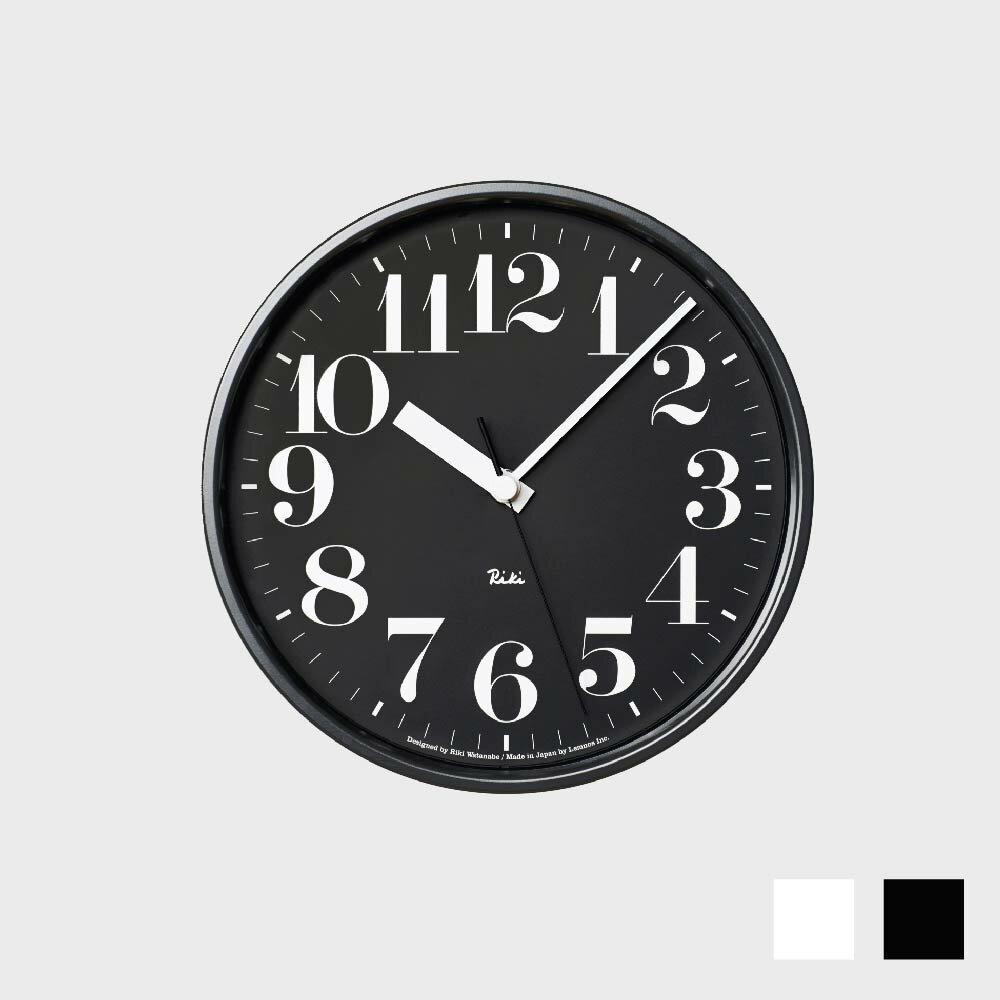 【100円offクーポン】[渡辺力/リキワタナベ]lemnos レムノス/riki clock(リキクロック)電波時計/掛時計 スチール/数字指標タイプ [渡辺力/リキワタナベの壁掛け 電波時計リキクロック]