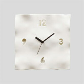 EGON WALL CLOCK/NATURAL white
