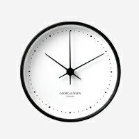 【100円offクーポン】GEORG JENSEN ジョージ ジェンセン/KOPPEL/掛時計・壁掛け時計BK SS WHダイヤル/φ15 [北欧 おしゃれな掛時計・壁掛け時計はジョージ ジェンセン]