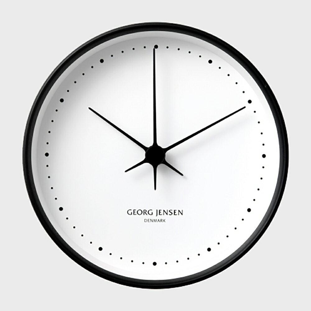 【100円offクーポン】GEORG JENSEN ジョージ ジェンセン/KOPPEL/掛時計・壁掛け時計BK SS WHダイヤル/φ22 [北欧 おしゃれな掛時計・壁掛け時計はジョージ ジェンセン]