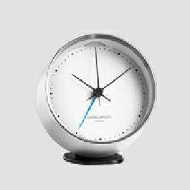 GEORG JENSEN ジョージ ジェンセン/KOPPEL/置き時計・アラームクロック SS WH/φ10 [北欧 おしゃれな置き時計・アラームクロックはジョージ ジェンセン]