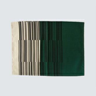Yanagi 宗道織物 / 地點墊 / 條碼花紋綠色 A [Yanagi 宗道 / 面料 / 墊是條碼模式] [米飛行 1 / 4]
