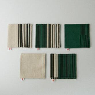 孢子囊群 Yanagi 織物 / 過山車 / 條碼花紋綠色 5 盤 [Yanagi 宗道 / 面料 / 過山車條碼模式] [1/4 米飛行]