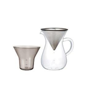 【カードデーP5倍+5%offクーポン|10倍お得な週末】KINTO キントー/SLOW COFFEE STYLE コーヒーカラフェ・ドリッパーセット/ステンレス 300ml [ フィルター不要のコーヒードリッパーセットはKINTO ]