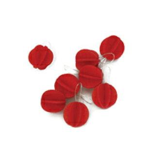 북유럽 lovi 로비/S트리용 볼형 크리스마스 오너먼트 1.7 cm x 8개입/라이트 레드[북유럽 lovi의 볼형 크리스마스 오너먼트][고양이 POS편1/8]