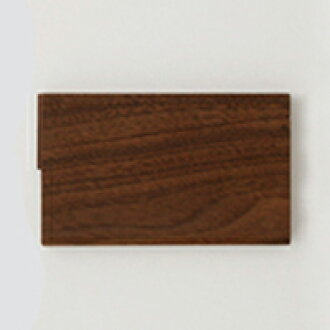 Flat-panel card put a walnut / card case [thin wooden business card holder / card holders] [02P05Nov16]