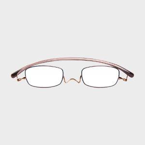 コンパクトな携帯用老眼鏡 paperglass スクエア ベーシックピンク(新仕様) [ おしゃれなメンズ・レディース兼用/男性用・女性用シニアグラス ]