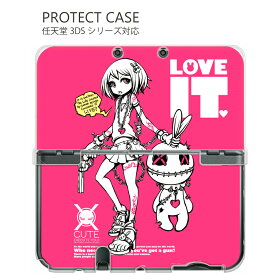 NINTENDO NEW2DSLL 3DS ケース 3DSLLケース 3DSLLカバー NEW3DSカバー NEW3DSLL カバー カバー ニンテンドー3DS/LL/NEW 3DS/NEW3DS LL専用【project.C.K.】1008_loveit