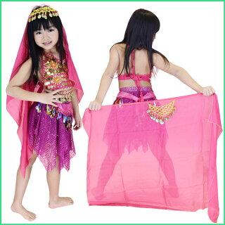 BA61113キッズアラビアン衣装全身セット(キャミ/スカート)