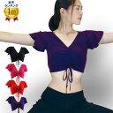 ベリーダンス アラビアン衣装 ダンス 衣装 ダンス衣装 GB6300 半袖フリルチョリ(イ) 10c トップス ベリー チョリ bell…