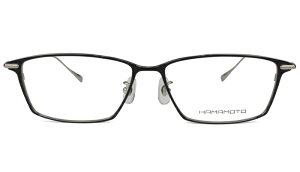 ★父の日 母の日 ギフト★ハマモト フレーム HAMAMOTO ht-124 c.1ブラックシルバー/シルバー 老眼鏡 遠近両用 伊達 メガネ 眼鏡 新品 送料無料 ht3
