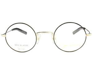 ジョンレノン John Lennon JL-A103 c.2 ブラック/ゴールド 丸 メガネ クラシカル レトロ 眼鏡 新品 伊達 老眼鏡 遠近両用 送料無料