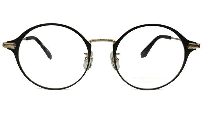 キャサリン・ハムネット KATHARINE HAMNETT メガネ 眼鏡 伊達 新品 送料無料 ダークブラウン/ライトゴールド kh9163 c.2