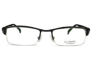 ■キオヤマト KIO YAMATO ■kt-297a c.32 ブラック■メガネ めがね 眼鏡■鼻パッド メンズ 新品 送料無料■52□19