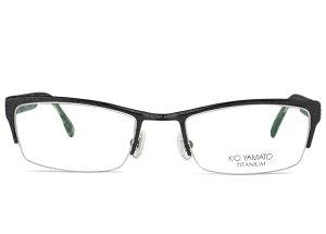 ■キオヤマト KIO YAMATO ■kt-312 c.32 ブラック■メガネ めがね 眼鏡■鼻パッド メンズ 新品 送料無料■52□19