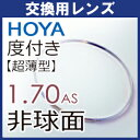 【交換用】度付き HOYA ニュールックス 超薄型非球面レンズ1.70(2枚一組) SFTコート注:カラーレンズには対応できません。