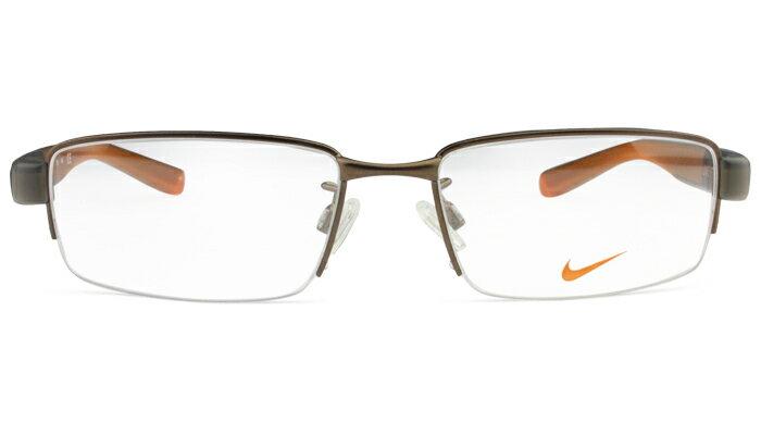 ナイキ NIKE 8165af 215 ブラウン メガネ 眼鏡 伊達 鼻パッド 新品 送料無料