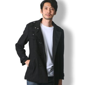 BUZZ WEAR トレンチコート メンズ 秋冬春用 黒/グレー M-XL