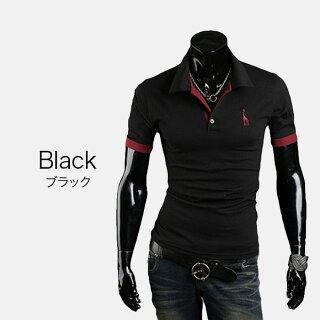 ポロシャツメンズTシャツカットソー半袖胸刺繍ゴルフウェアトップスカジュアルコーデ黒紺春夏秋メンズファッション