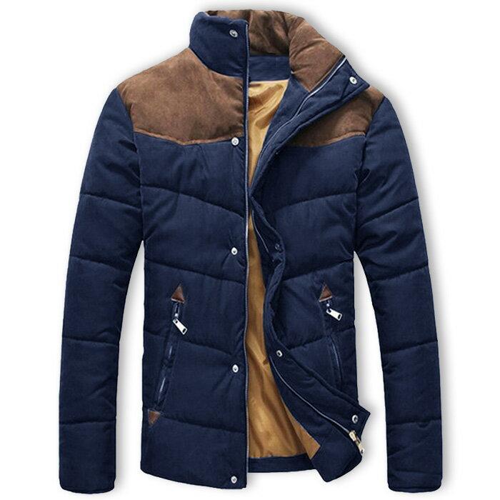ブルゾン メンズ 中綿入りジャケット コート ジャンパー アウター カジュアル アウトドア ナイロン ハイネック 異素材切り替え 冬服 冬服
