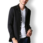 カジュアルシャツメンズオックスフォードシャツ長袖シャツメンズワイシャツ無地コーデトップス黒白紺MLXL