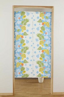 Cotton print noren Hawaii Ann handle noren sum furniture made in noren interior, bedclothing, storing India for a limited time ※fu