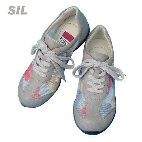 期間限定 スニーカー レディース レディース靴 華やか柄 チュール メッシュ 透け感 紐スニーカー インヒール 滑りにくい 靴 シューズ スポーティー ウォーキング コンフォート ※fu