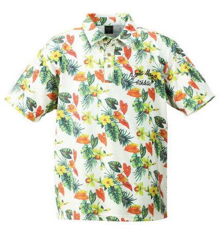 期間限定 ポロシャツ メンズ トップス 大きいサイズ ボタニカル プリント 半袖 メンズファッション ※fu