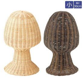 ラタン製帽子掛け ラタンヘッド マネキンヘッド 小サイズ 高さ30cm 生成り/ブラウン EX6-163-2-1【代金引換不可】