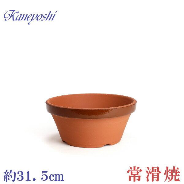 植木鉢 陶器 おしゃれ サイズ 【31cm】 安くて丈夫 ダ温鉢浅 10号