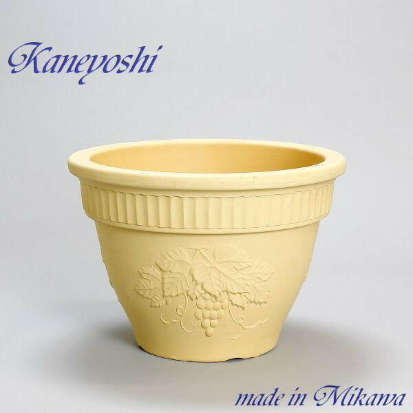 植木鉢 陶器 おしゃれ サイズ 【31cm】 安くて丈夫 ヨーロピアン 白焼 10号
