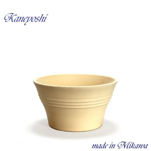 安くて丈夫 おしゃれ 植木鉢 陶器 サイズ 25cm ビオラ 8号 白焼
